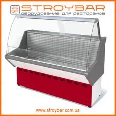 Витрина холодильная среднетемпературная ВХС-1,8 Нова (с гнутым стеклом,нержавейка)