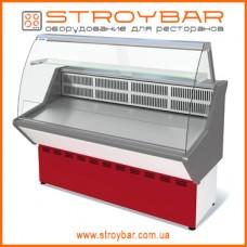 Витрина холодильная универсальная ВХСн-1,2 Нова (с гнутым стеклом,нержавейка)